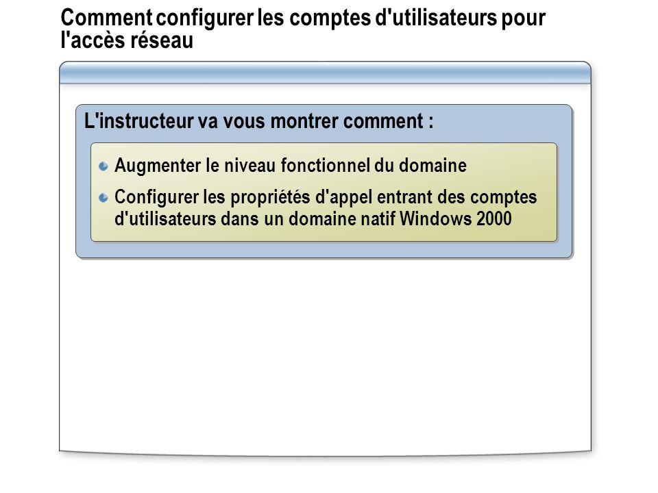 Comment configurer les comptes d utilisateurs pour l accès réseau