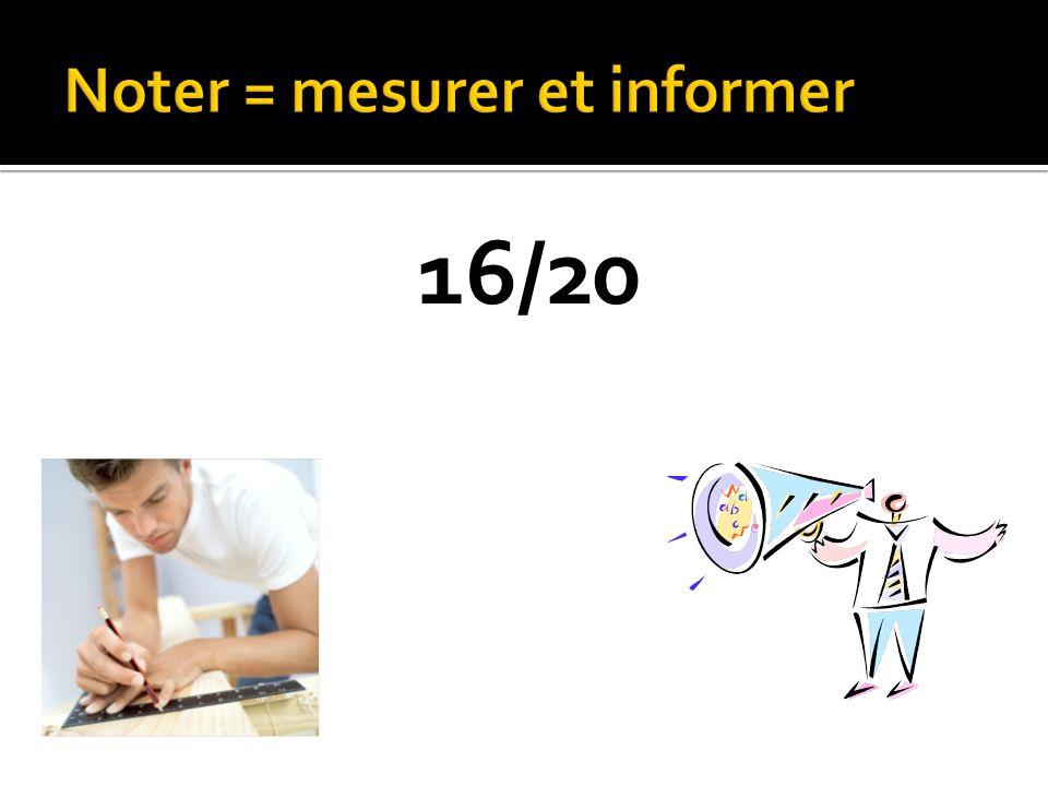 Noter = mesurer et informer