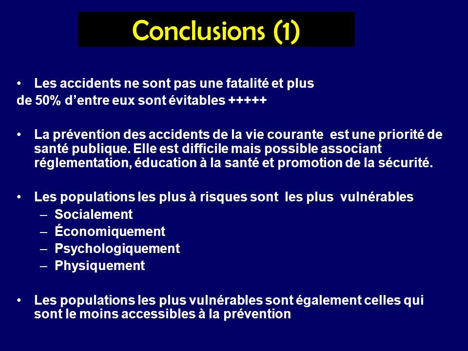 Conclusions (1) Les accidents ne sont pas une fatalité et plus