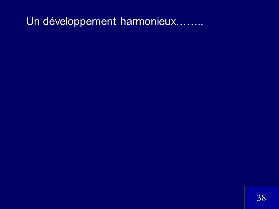 Un développement harmonieux……..