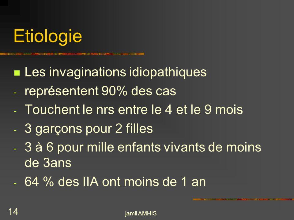 Etiologie Les invaginations idiopathiques représentent 90% des cas