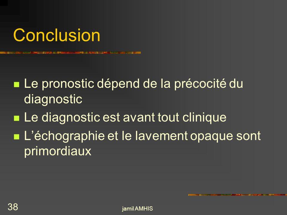 Conclusion Le pronostic dépend de la précocité du diagnostic