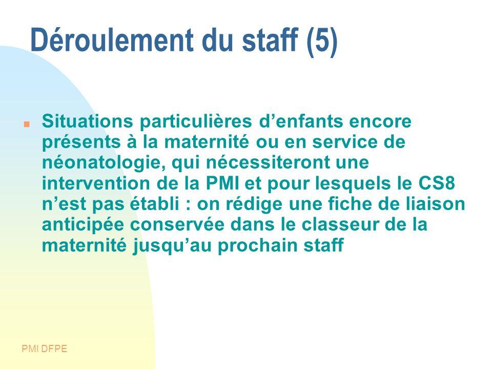 Déroulement du staff (5)
