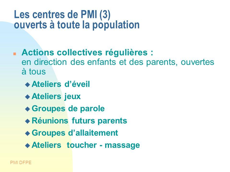 Les centres de PMI (3) ouverts à toute la population