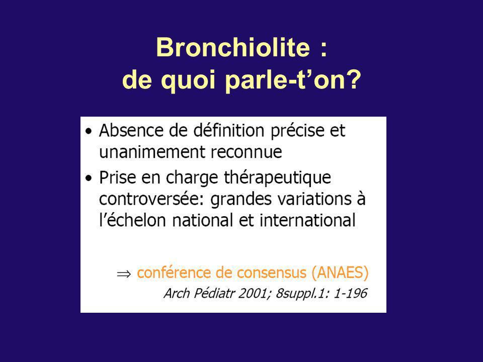 Bronchiolite : de quoi parle-t'on