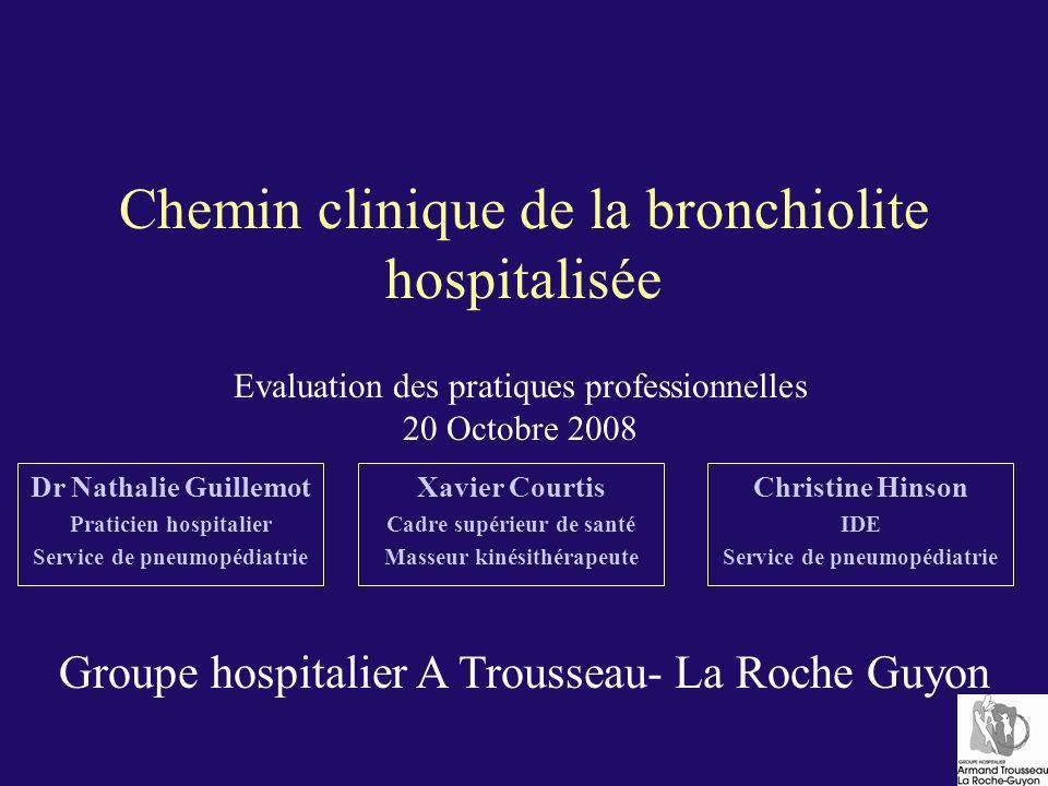 Chemin clinique de la bronchiolite hospitalisée