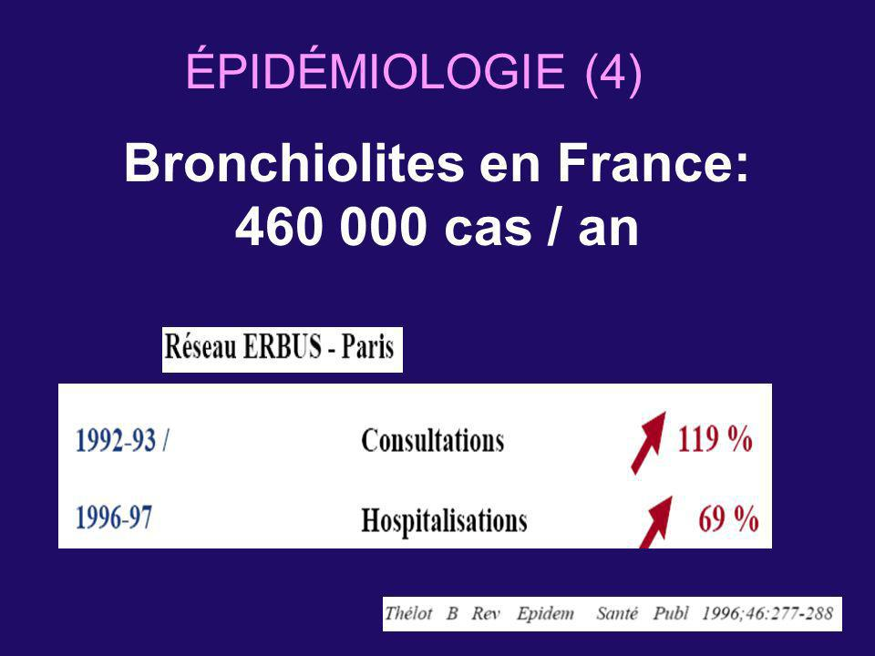 Bronchiolites en France: 460 000 cas / an