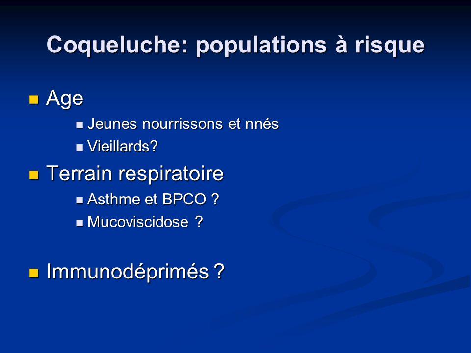 Coqueluche: populations à risque