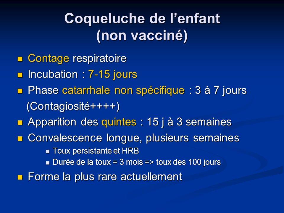Coqueluche de l'enfant (non vacciné)
