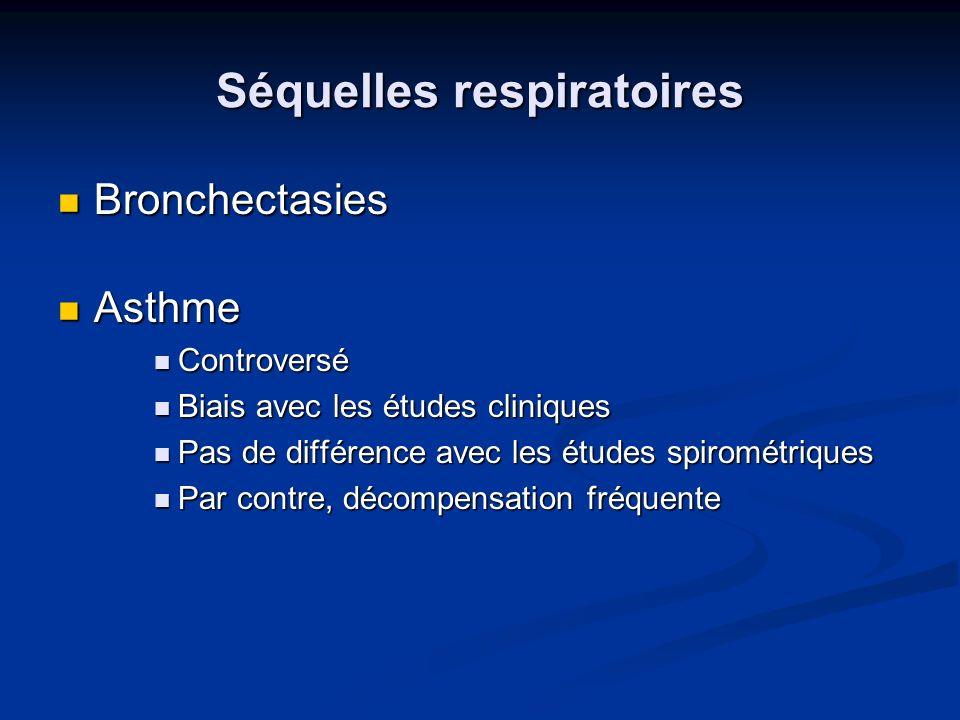 Séquelles respiratoires