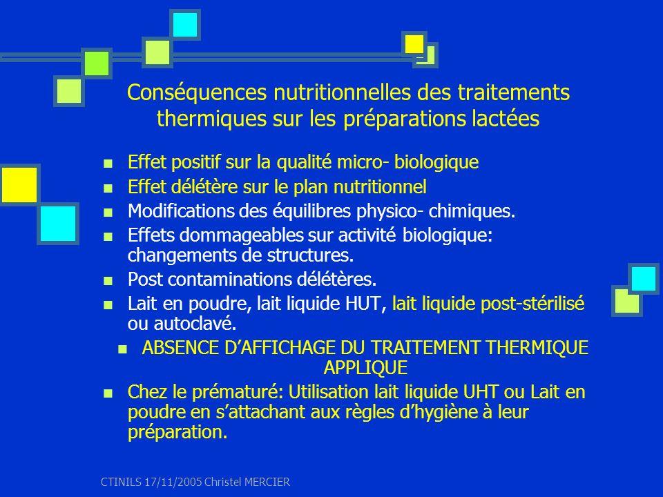 ABSENCE D'AFFICHAGE DU TRAITEMENT THERMIQUE APPLIQUE