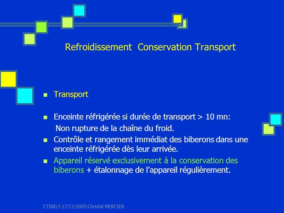 Refroidissement Conservation Transport