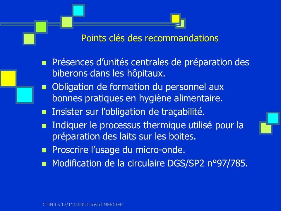 Points clés des recommandations