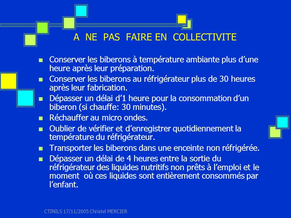 A NE PAS FAIRE EN COLLECTIVITE