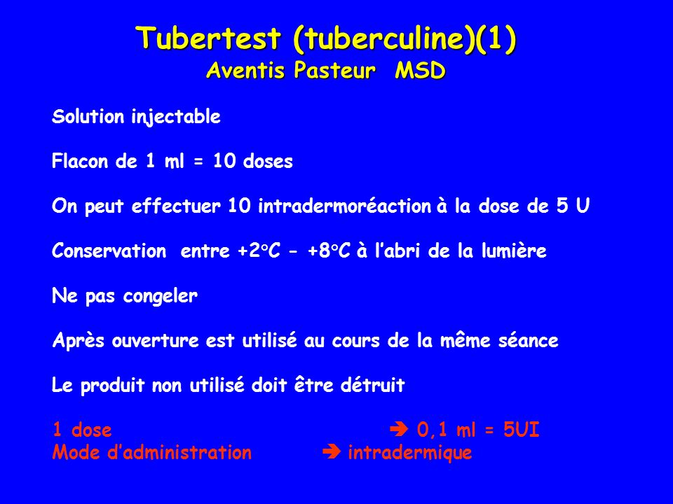 Tubertest (tuberculine)(1)