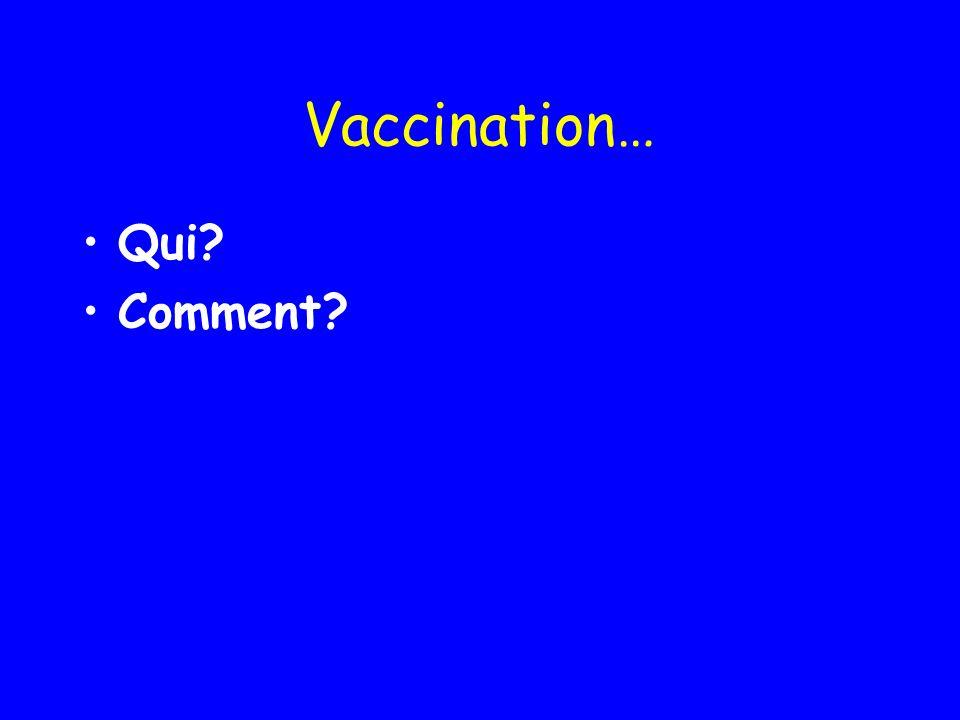 Vaccination… Qui Comment