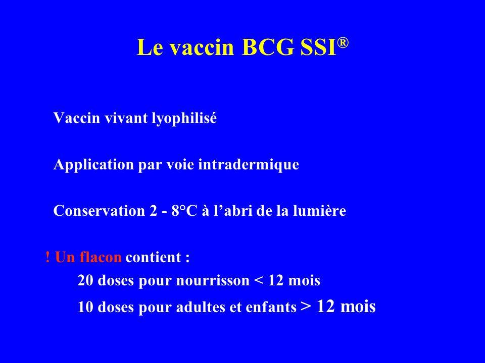 Le vaccin BCG SSI® Vaccin vivant lyophilisé