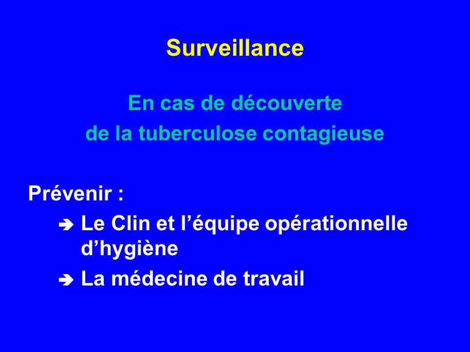 de la tuberculose contagieuse