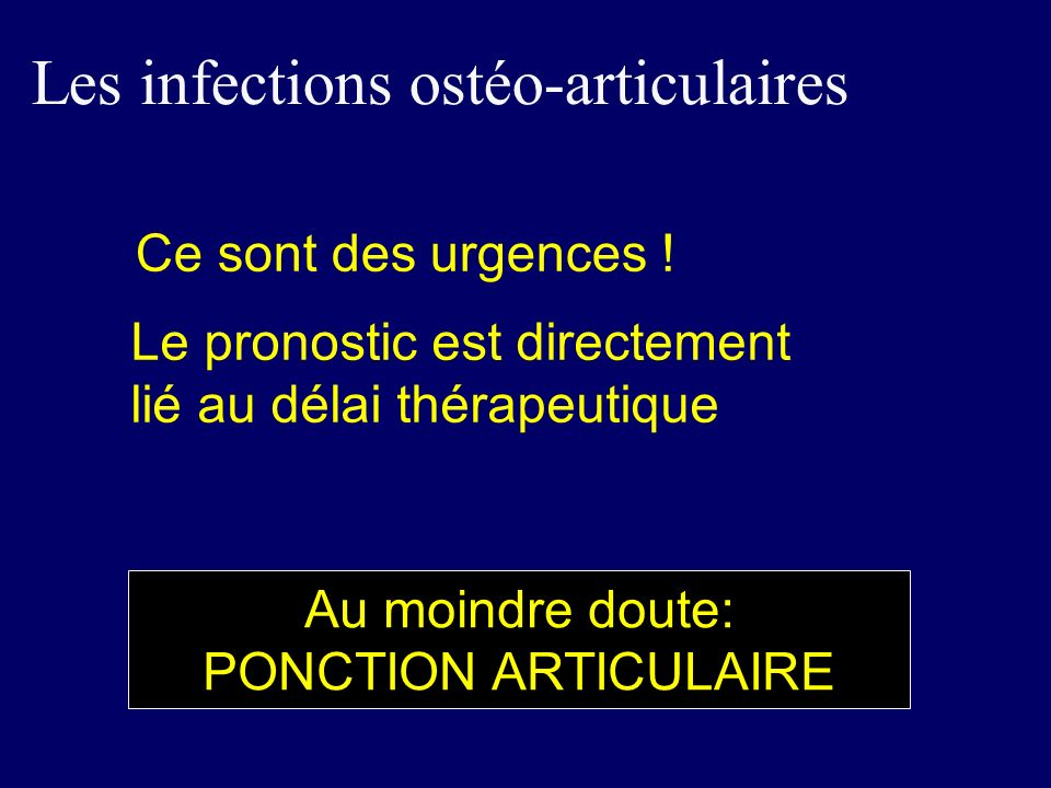 Les infections ostéo-articulaires