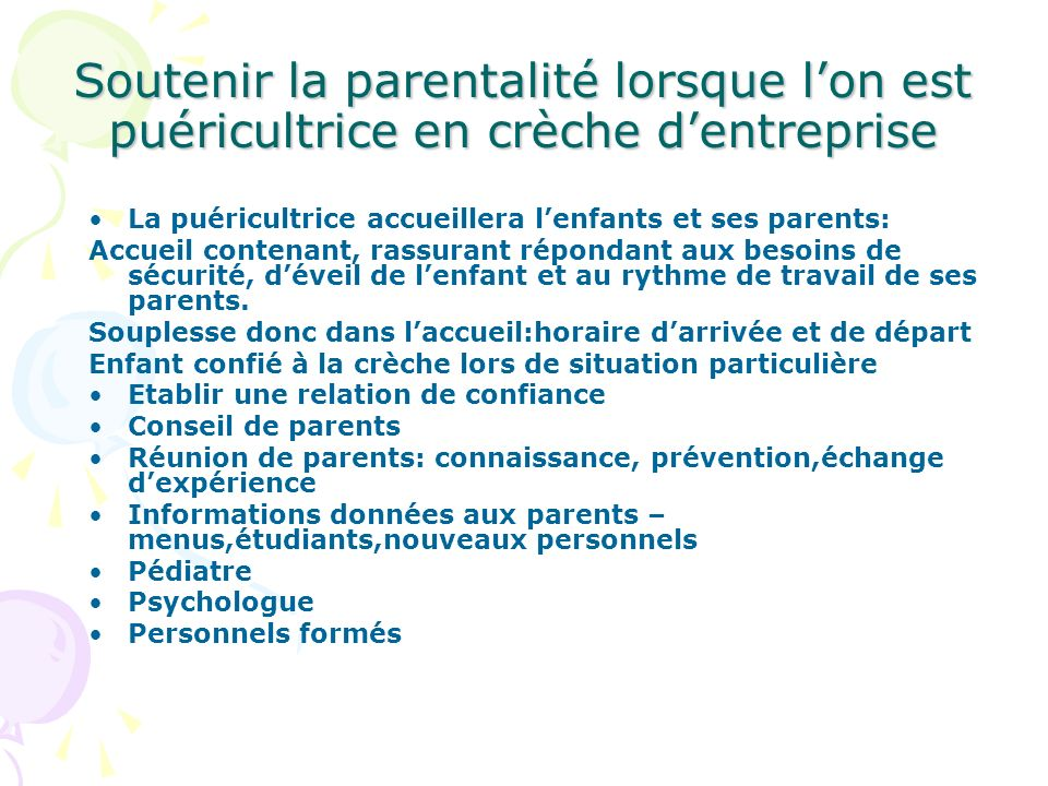 Soutenir la parentalité lorsque l'on est puéricultrice en crèche d'entreprise
