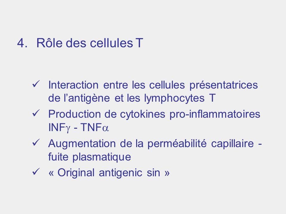 Rôle des cellules T Interaction entre les cellules présentatrices de l'antigène et les lymphocytes T.
