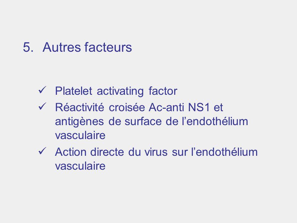 Autres facteurs Platelet activating factor