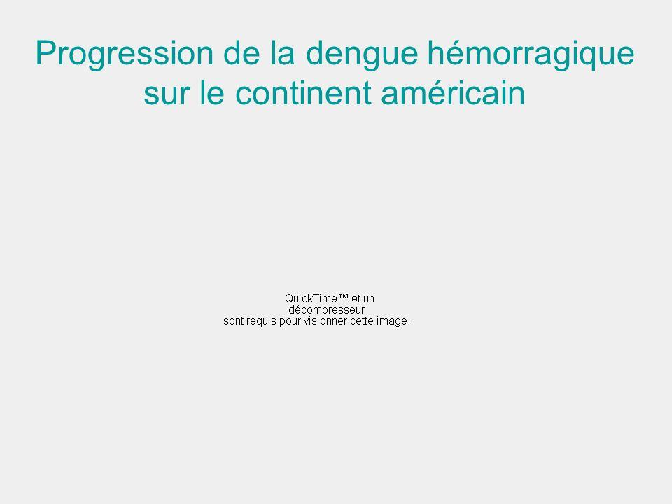 Progression de la dengue hémorragique sur le continent américain