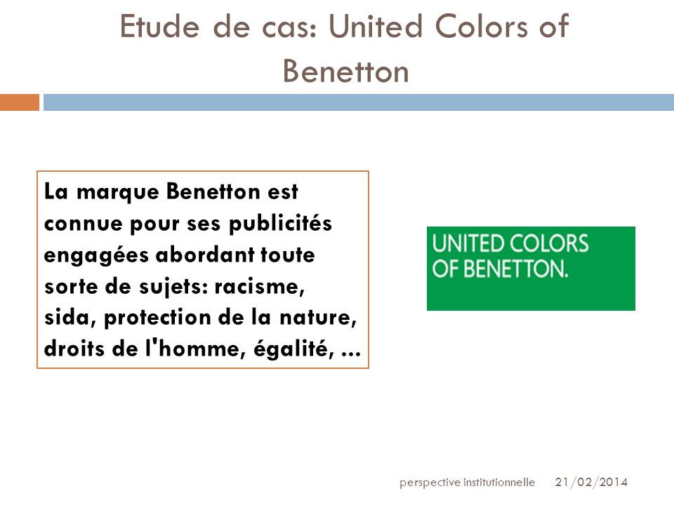 Etude de cas: United Colors of Benetton