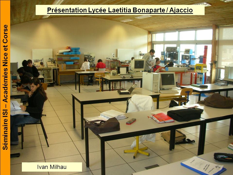 Présentation Lycée Laetitia Bonaparte / Ajaccio