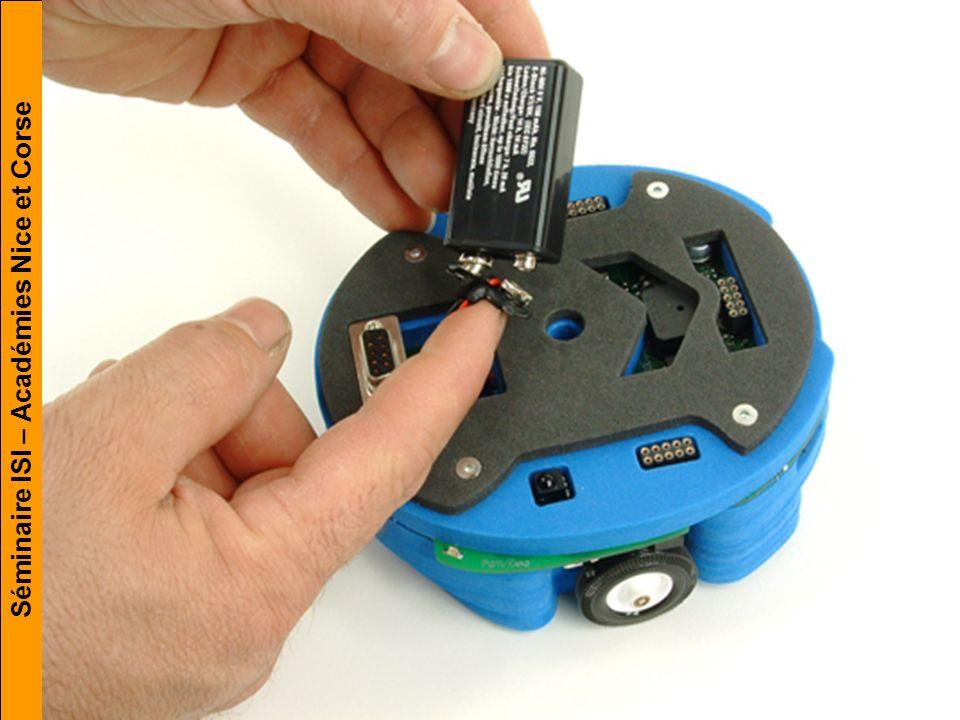 Robot Hémisson. Pile ou accumulateur Chaîne d'information