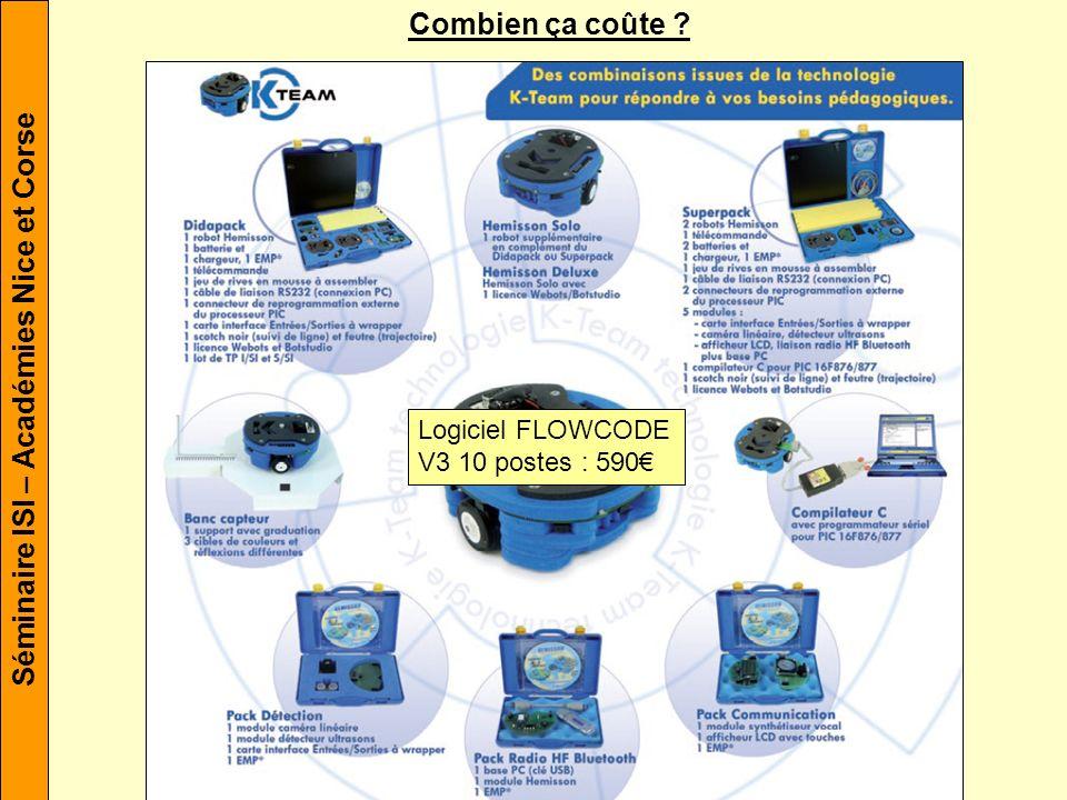 Combien ça coûte Logiciel FLOWCODE V3 10 postes : 590€