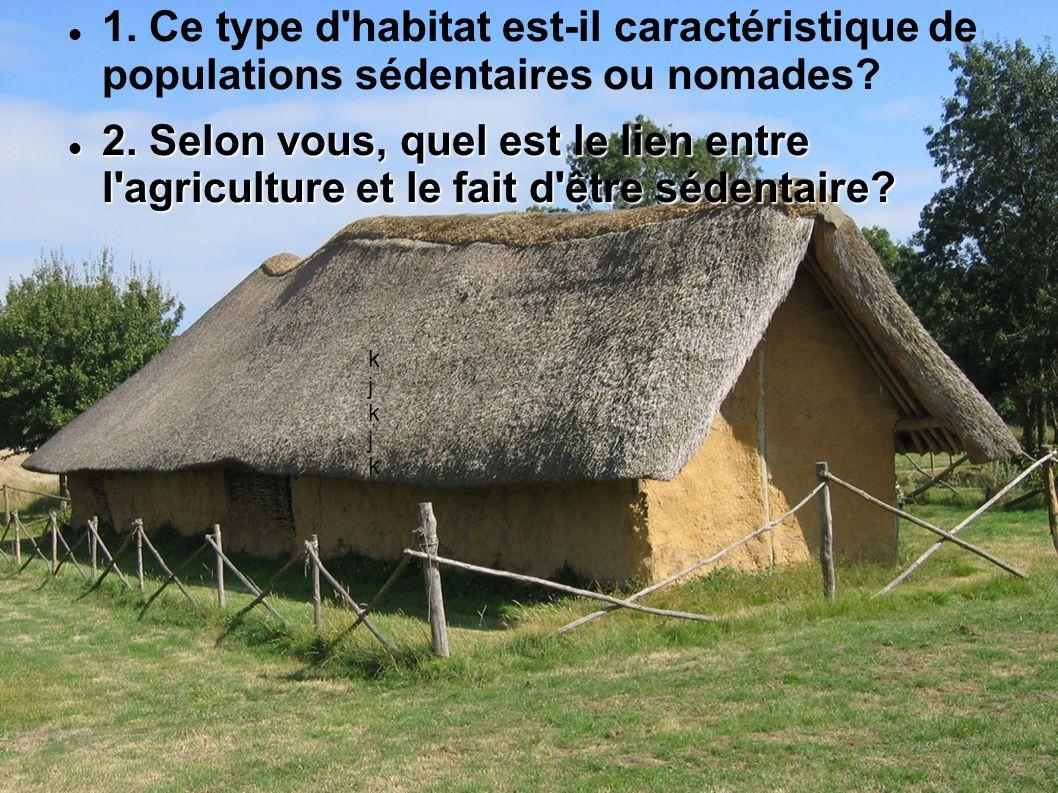 1. Ce type d habitat est-il caractéristique de populations sédentaires ou nomades