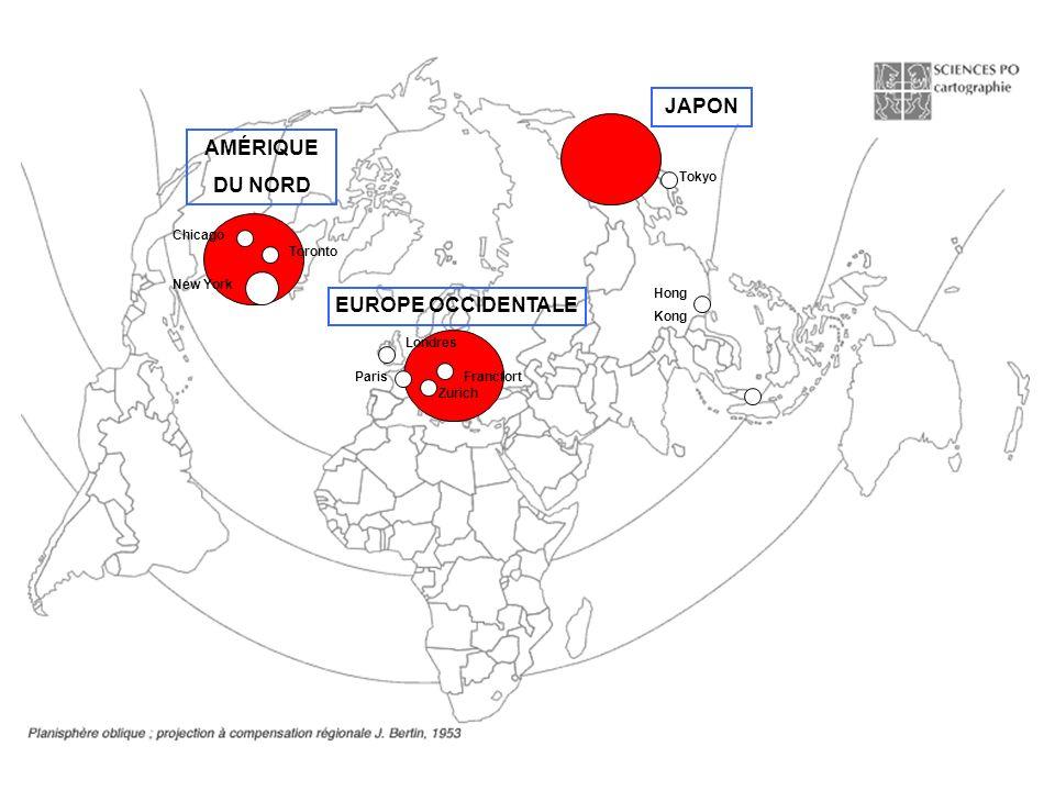 JAPON AMÉRIQUE DU NORD EUROPE OCCIDENTALE