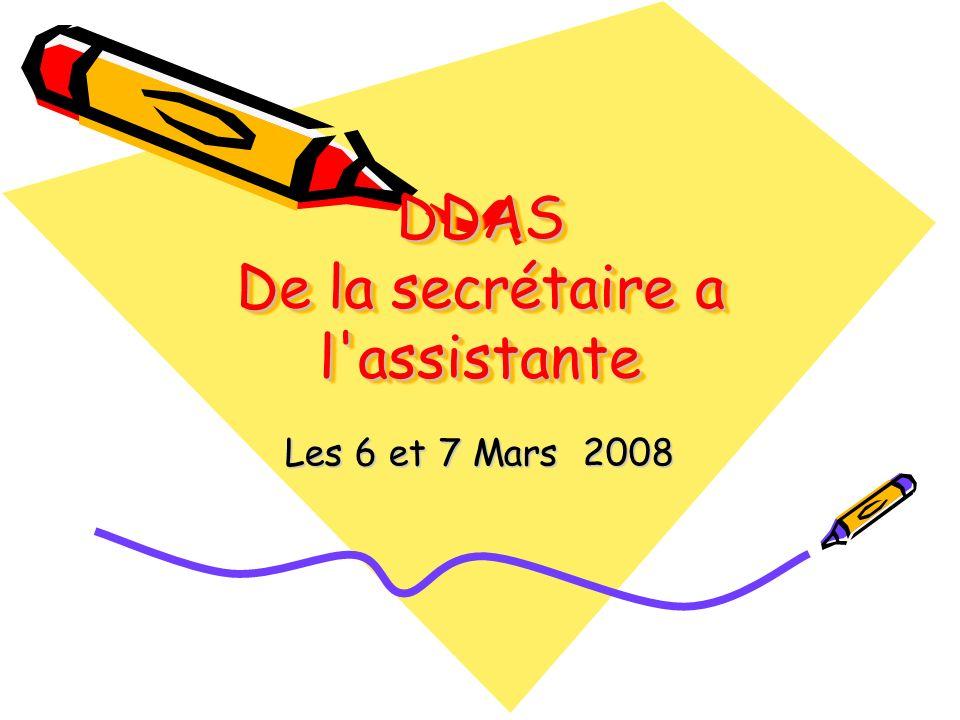 DDAS De la secrétaire a l assistante