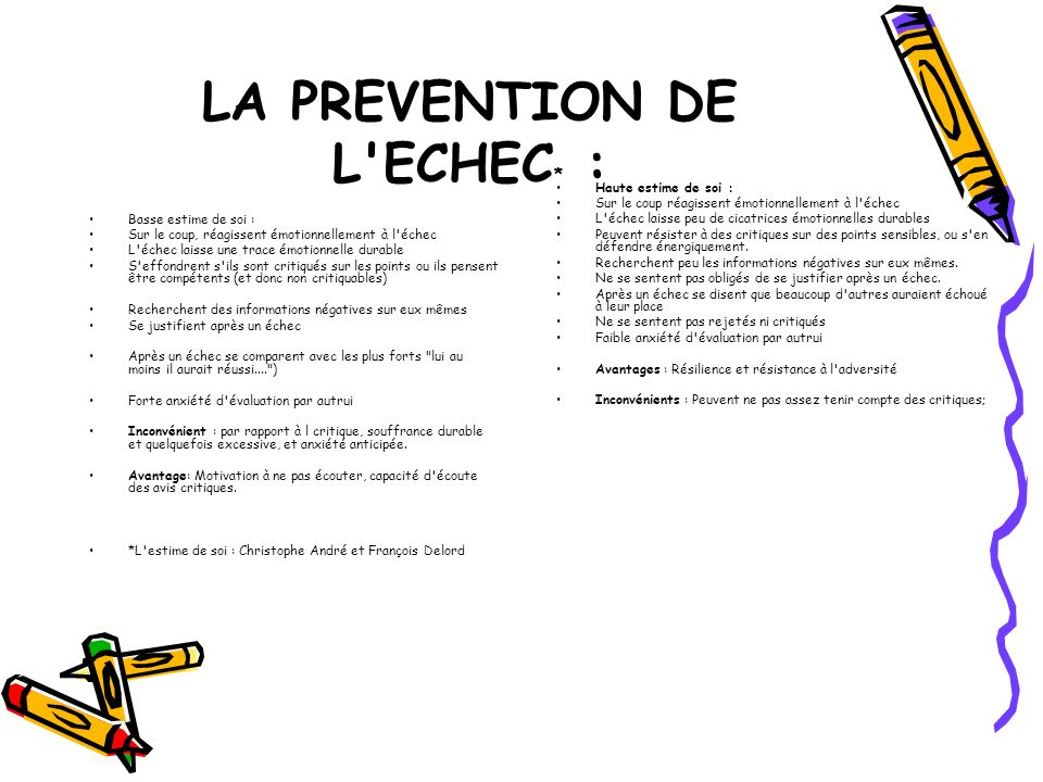 LA PREVENTION DE L ECHEC* :