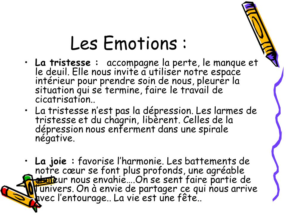 Les Emotions :