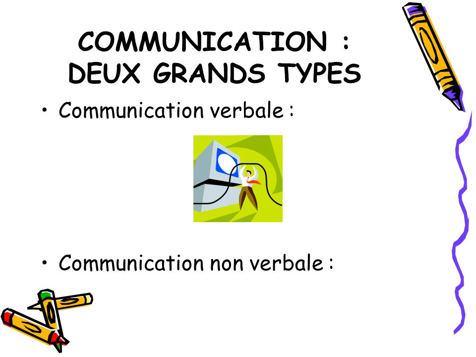 COMMUNICATION : DEUX GRANDS TYPES