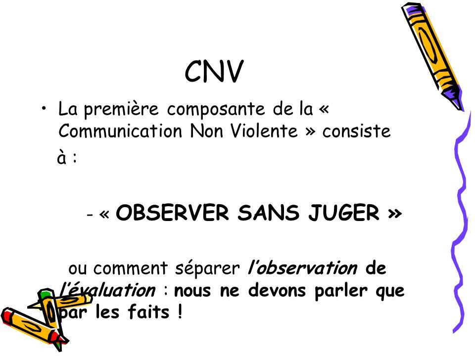 - « OBSERVER SANS JUGER »