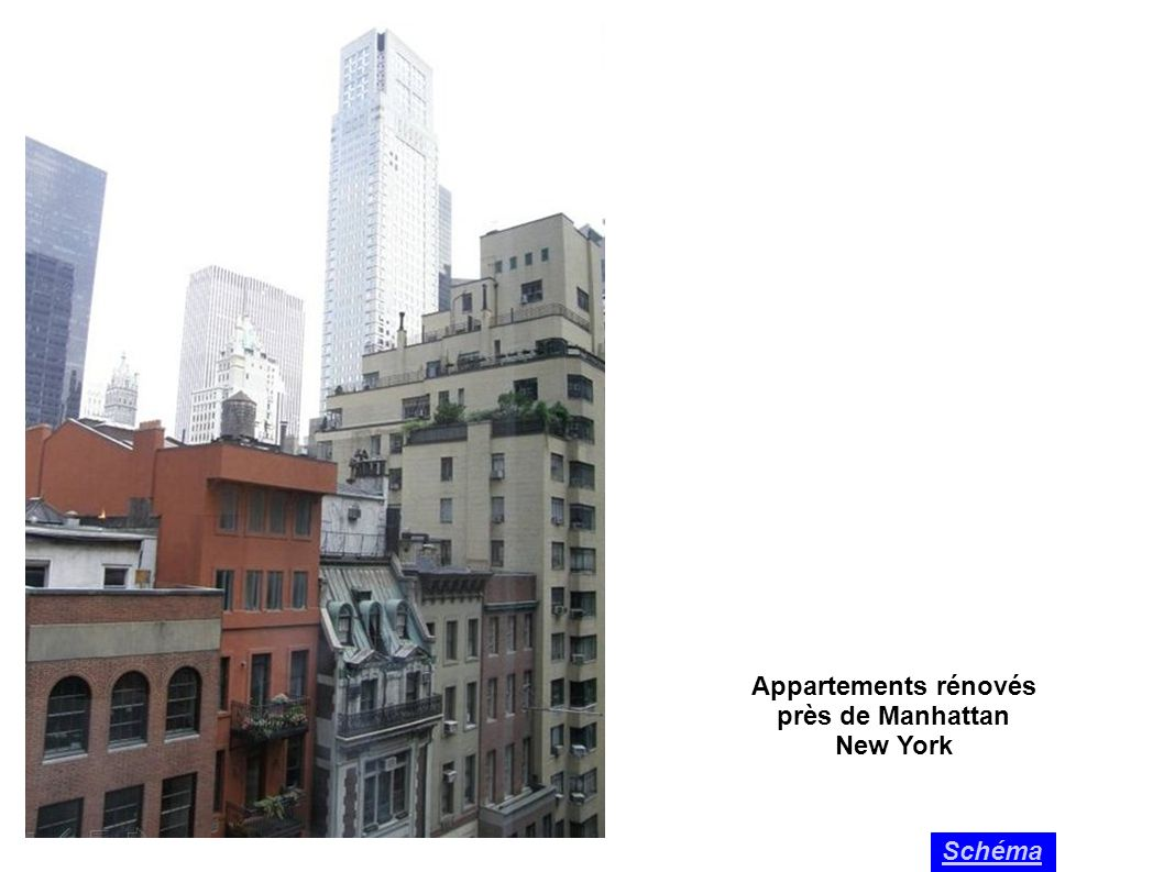Appartements rénovés près de Manhattan New York Schéma