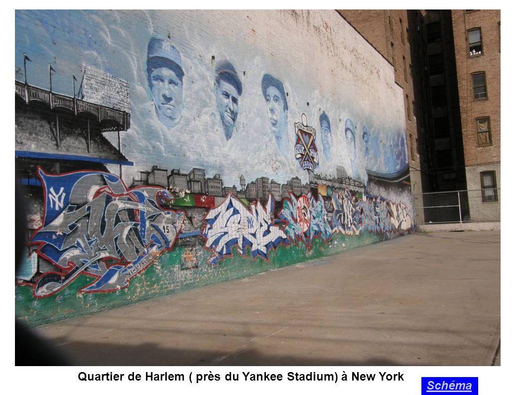 Quartier de Harlem ( près du Yankee Stadium) à New York