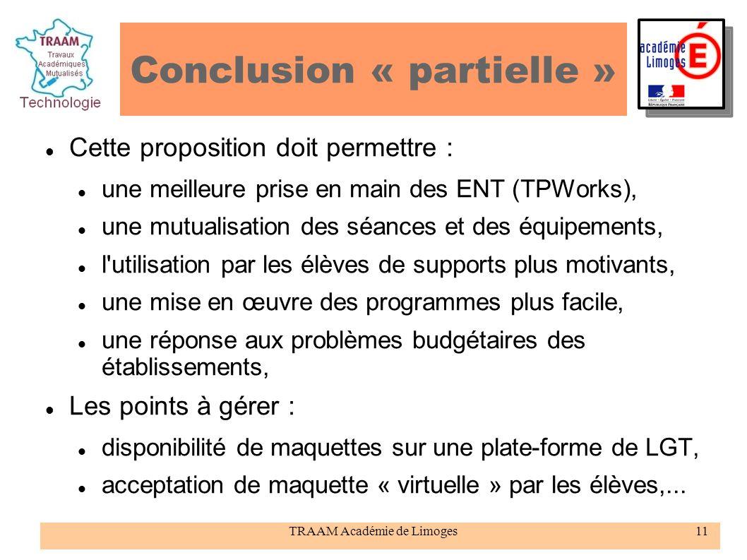 Conclusion « partielle »