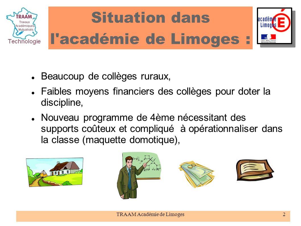 Situation dans l académie de Limoges :