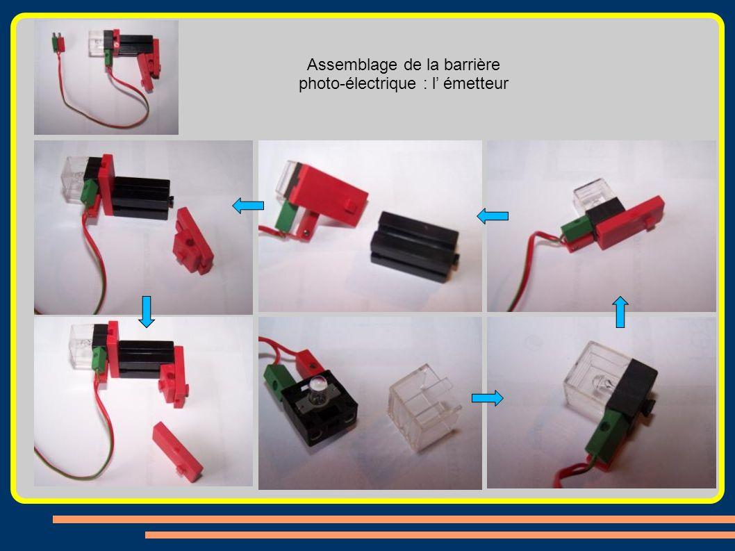 Assemblage de la barrière photo-électrique : l' émetteur