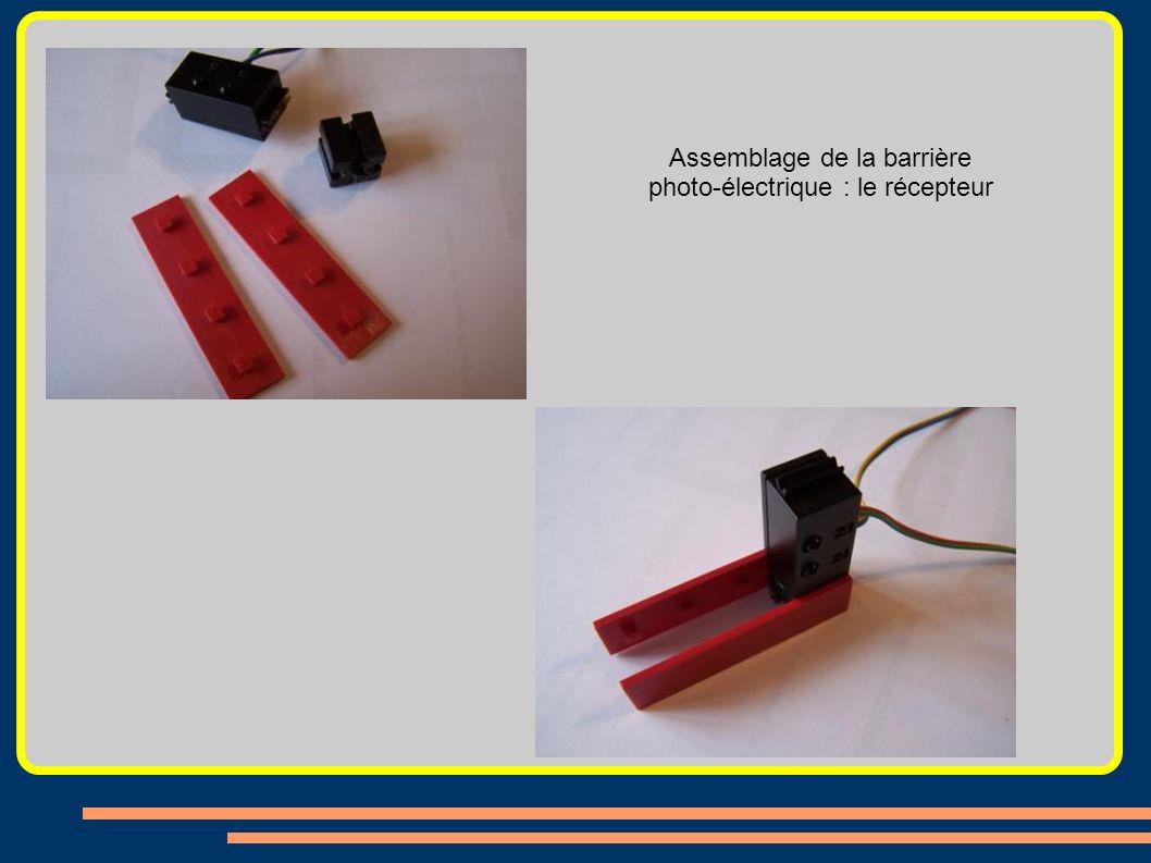 Assemblage de la barrière photo-électrique : le récepteur