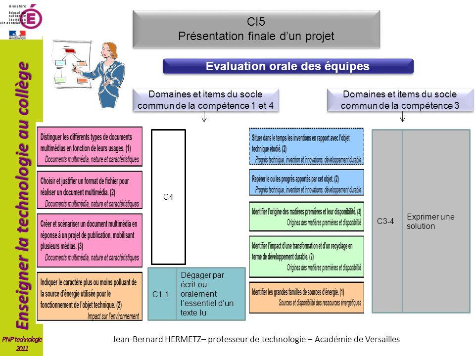 Evaluation orale des équipes