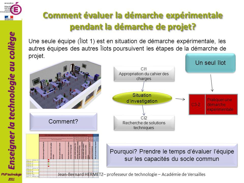 Comment évaluer la démarche expérimentale pendant la démarche de projet