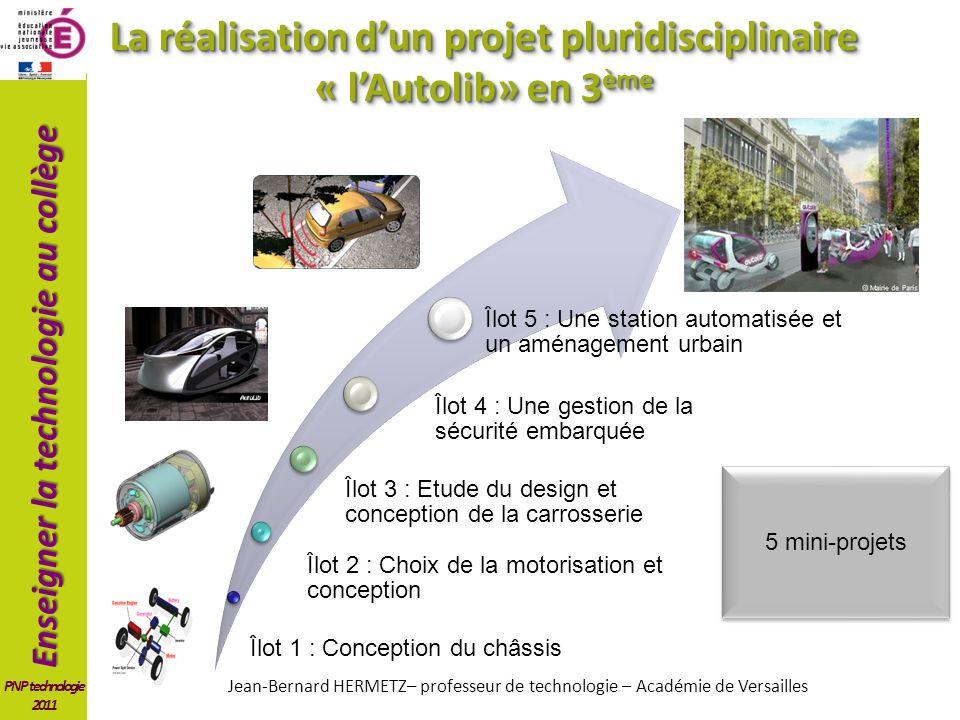 La réalisation d'un projet pluridisciplinaire « l'Autolib» en 3ème