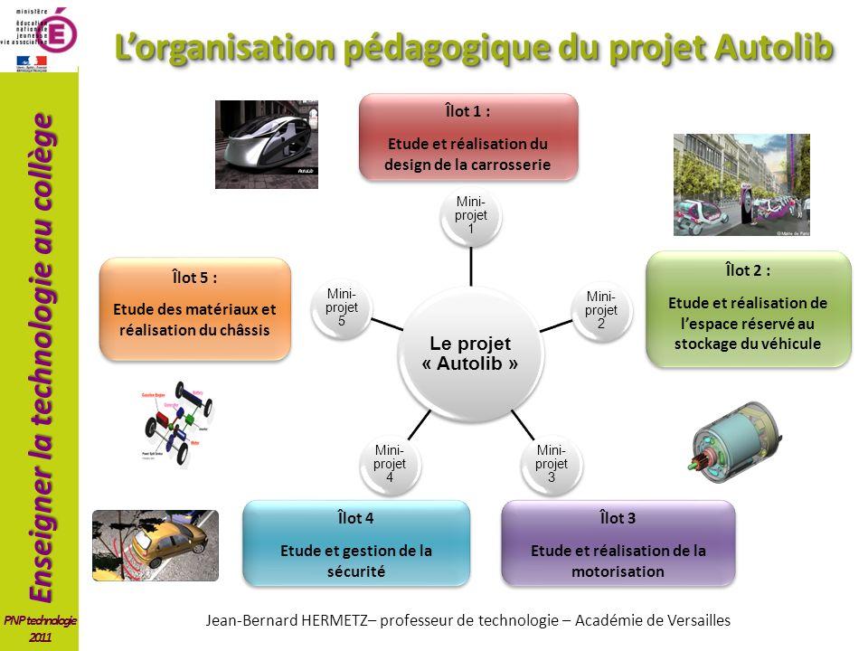 L'organisation pédagogique du projet Autolib