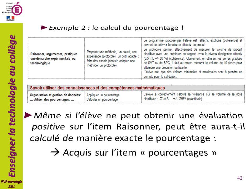 Exemple 2 : le calcul du pourcentage !