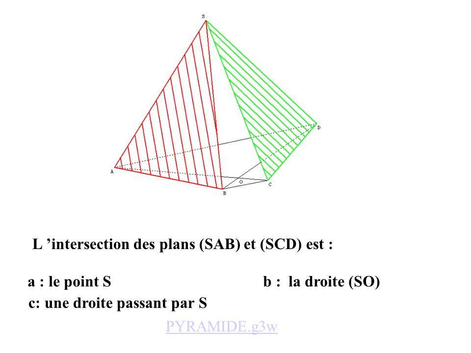 L 'intersection des plans (SAB) et (SCD) est :